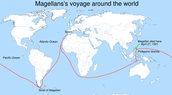The route he took to the spice islands