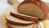 Rye bread is a delicious, savory snack.