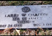 Larry Wayne Chaffins Tombstone