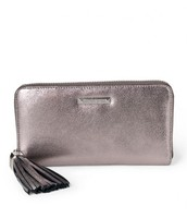 Mercer Wallet - Pewter Metallic (gently used)