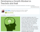 Article: Developing a Growth Mindset in Teachers and Staff