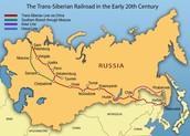 Siberean railroad map