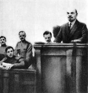 Lenin's introducing the 'April Theses' to the provisonal goverment as well as the Bolsheviks