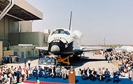 Discovery rollout celebration in 1983