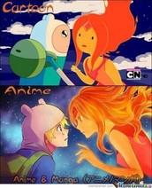 Cartoons v.s. Anime