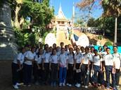 Group photo outside Wat Phnom!