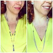 Azure Tassel Necklace- Versatile Styles 2 & 3