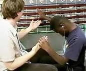Teaching Deaf - blind person