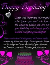 my mom's birthday is june 9