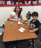 Mrs. Blackman's small group working hard.