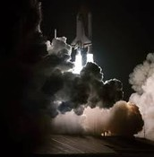 Mission STS-8 being launched
