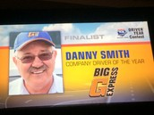 Danny as Finalist Driver of the Year