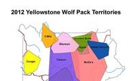 2012 Yellowstone Wolf Pack Territories