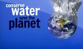 Conserve water now! Save our world