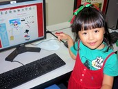 KG2 student on an interactive website.