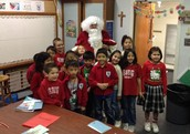 Santa visited our classroom on Friday morning to say hello!