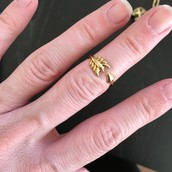 $14.50 Sm/Med Gilded Arrow Ring