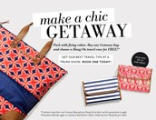 Free Hang On with Purchase of a Getaway Bag