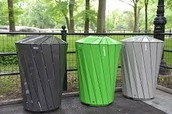 The trash cans are like the lysosomes