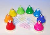 rainbow desk bells