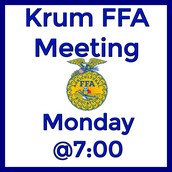 FFA Meeting on Monday, September 19th at 7:00