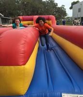 Allison rocking the bungee run!