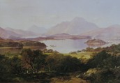 "Horatio Mcculloch (1805-1867) ""Loch Lomond"" 1861"