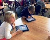 2nd Grade Sudents using Popplet app
