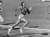 Wilma Rudolph is running one of her races!