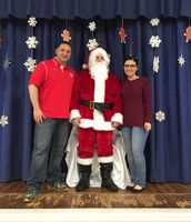 Mr. Russo and Ms. Weber at the Festival of Giving!