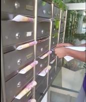 חלוקה בתאי הדואר