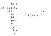 Dividing Decimals : Easy Steps