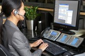 Hosted pbx call center