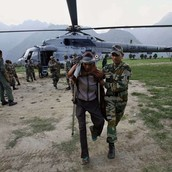 Indian army rescues people