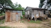 Typical house in the slums of Honduras