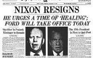 Nixon finally resigns