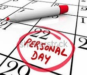 OEA/OUSD non-approved personal days