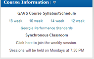 Print out your schedule/syllabus.