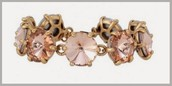 Amelie Sparkle Bracelet- Peach $20