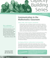 Communications in the Mathematics Classroom