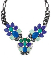 Peacock necklace - $64