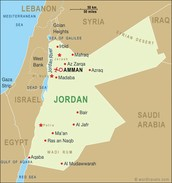 This is a map of Jordan.