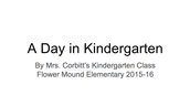 Kindergarten Class Book Using Google Presentation