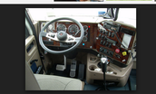 The dashboard of the truck.