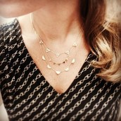SOLD!!!!!!!!Pave Chevron  26 way necklace!!!!! Was $84, now $40!!!