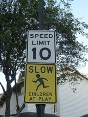 The Speed Limit at MV is 10 MPH