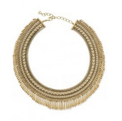 SOLD Tansy Fringe Collar $70
