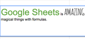 Google Sheets: Format Within a Cell