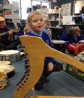 Harp-playing!