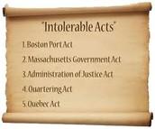 Coercive Acts (Intolerable) 1774